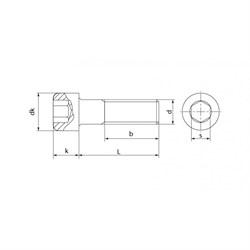 Винт DIN 912 Цилиндр. голова и внутр. шестигранник - фото 6324