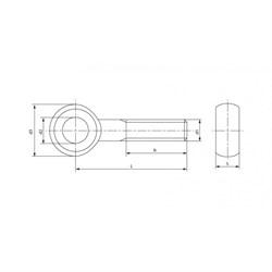 Болт DIN 444 Откидной с ушком неполная резьба - фото 6334