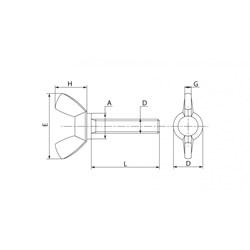 Винт DIN 316 Барашек с прямоугольными лепестками - фото 6343