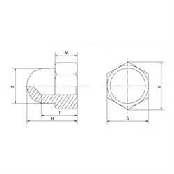 Гайка DIN 1587 Шестигранная колпачковая (кг) - фото 6351