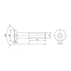 Винт DIN 7991 Потай внутренний шестигранник А2 - фото 6407