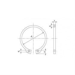 Кольцо DIN 471 стопорное наружное (для вала) - фото 6457