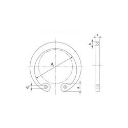 Кольцо DIN 472 стопорное внутреннее (для отверстия) - фото 6459